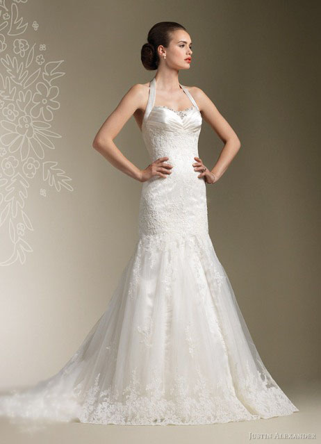 As A Bride If You Are Thinking Of Having A Halter Neck Wedding Dress You  Probably Will Face Such Traditional Designs With A Classic Strap Around The  Neck.