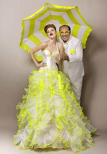 The Beautiful Vintage White And Yellow Wedding Dress Above Is From Max Chaouls 2013 Couture Collection