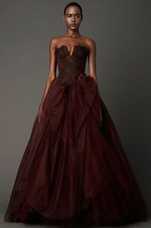 Colored wedding dresses ready to make a powerful fashion for Brown dresses for a wedding