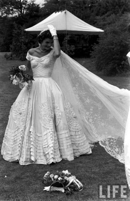 Jackie Won Her Spot In My Favorite Royal Wedding Dresses Picks Not Because She Was Or Married Royalty But Rose Status To